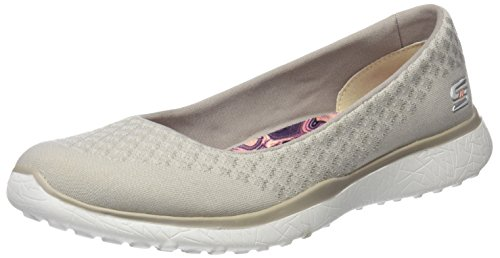 Skechers Microburst-One Up, Baskets Femme Beige (Natural)