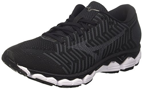 Mizuno Waveknit S1, Zapatillas de Running para Hombre, Multicolor (Black/Black/Darkshadow 09), 43 EU