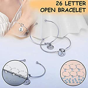 Damen Armbänder Silber Geknotetes Armband mit Diamanten Alphabet Geknotet Armband Freundinnen Geburtstag Schmuck