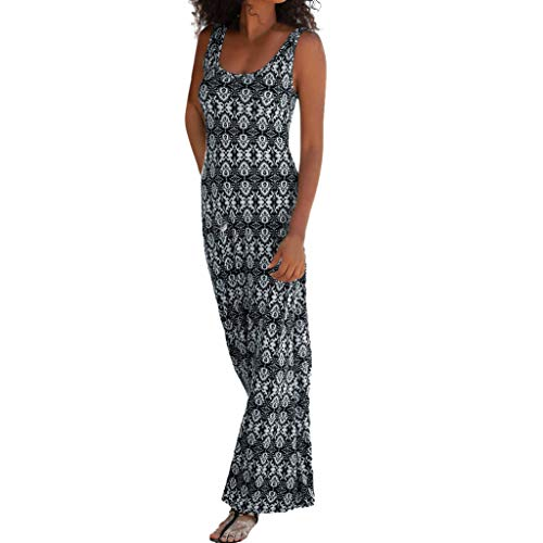 Dasongff Kleid Damen Strandkleid Sommerkleider,Hollow Out Maxikleider,Frauen Sexy Freizeitkleid Rundhals Tunikakleid,Casual ()