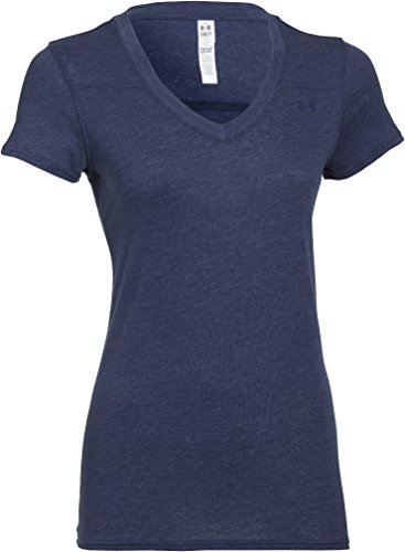 Under Armour Damen Fitness T-Shirt Standout T, Faded Ink Blue, M (Womens Cross T-shirt Fitted)