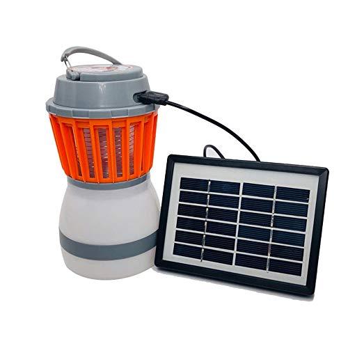 Mosquito Eliminator (ZFH Camping Laterne Mosquito Eliminator Insektenfliege Killer 2-In-1 tragbare leichte effiziente USB wiederaufladbare IP67 wasserdicht umweltfreundlich ungiftig)