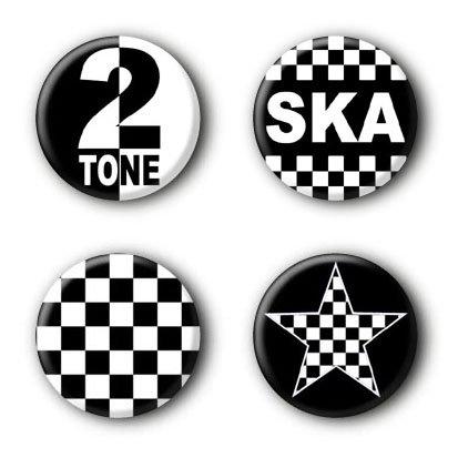 4 Ska Buttons (2,5cm)
