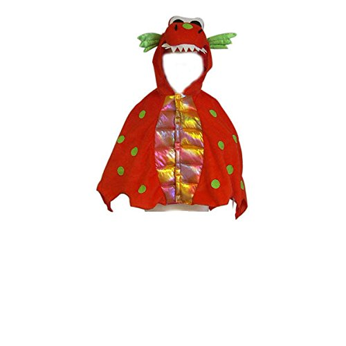 Jungen Mädchen Kids rot Dragon Fancy Dress Halloween-Kostüm für Kinder - Titel 6 Halloween