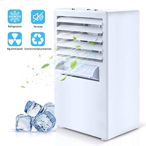 Mini Luftkühler, Mobile Klimageräte Wasserkühlung Ventilator Kalter Wind Luftbefeuchter Luftreiniger mit Auslaufsicheres Tablett und 3 Geschwindigkeit, Bladeless Leise Kann Ätherisches Öl Hinzufügen