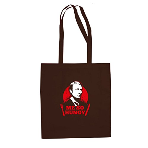 Me so Hungy - Stofftasche/Beutel, Farbe: (Hannibal Kostüme)