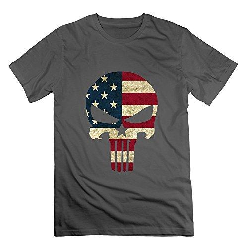 Grossbull Men's Funny Chris Kyle Frog American Sniper Skull Logo T-shirt X-Large