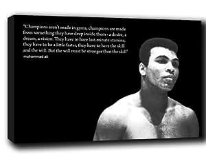 Muhammad Ali abstrait toile Citation 91,4x 61cm