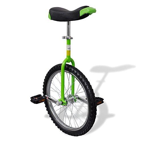 vidaXL Einstellbares Einrad 50,8 cm grün