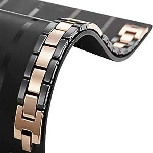 Outstanding R&B Jewelry Tungsten Bronze Delight Black Mens Link Bracelet
