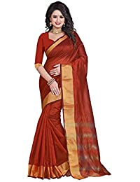 Sr Cotton Saree With Blouse Piece (Srstudio_Brown_Free Size)