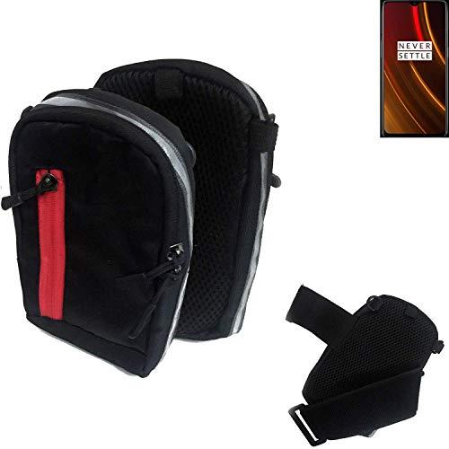 K-S-Trade® Outdoor Gürteltasche Umhängetasche Für OnePlus 6T McLaren Edition Schwarz Handytasche Case Travelbag Schutzhülle Handyhülle