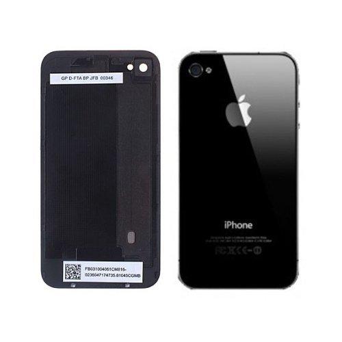 iPhone 4 Backcover Glas schwarz + Werkzeug (Rückseite Akkudeckel) Neu (Schleifer Montieren)