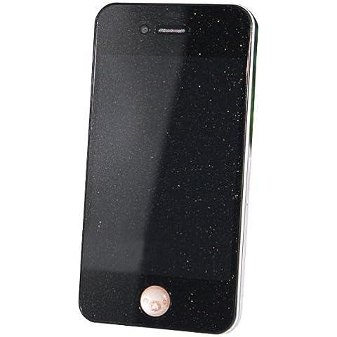 Protector de pantalla de Front + Back de oro del diamante para el iPhone 4.