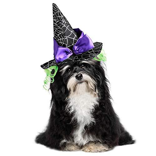 Katzen Kostüm, Halloween Haustier Kostüme Nettes Cosplay Vampirs-Umhang-Kap für Kleine Katzen Welpen (Hut fur ()