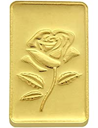 TBZ - The Original 5 gm, 24k(999) Yellow Gold Rose Precious Coin