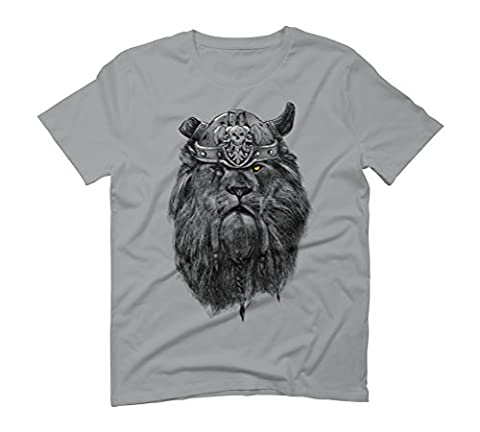 The eye of the Lion Vi/king Men's Large Opal Graphic T-Shirt - Design By Humans