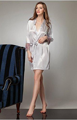 Tonwhar - Robe de chambre - Femme Multicolore - Silver Gray