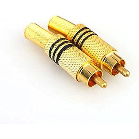 onviantech 4pezzi placcato oro rca connettore maschio saldatura Free Audio fotocamera pick-up accessories-av