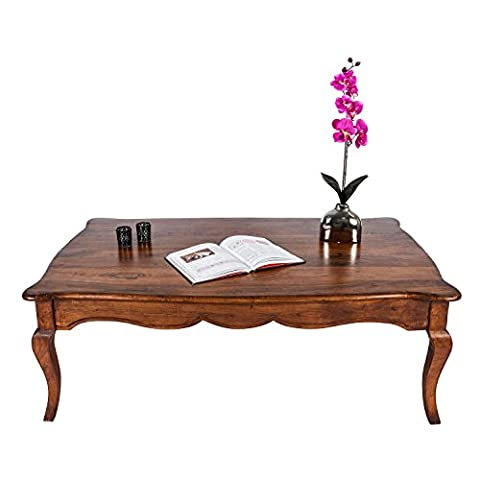 Homescapes New Orleans Solid Mango Wood Coffee Table with Cabriole