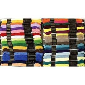 Embroidery Silks Assortment 72 Skein Pack - Solid Colours