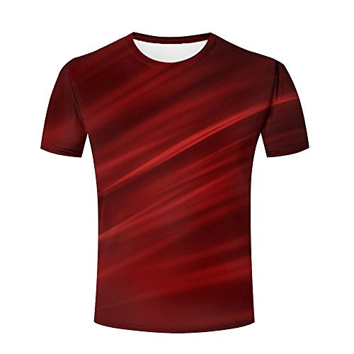 Unisex Men 3D Shirts Gradient Color Funny Printed Creative Graphics Tees S (Sleeve Tee Printed Long Spandex)