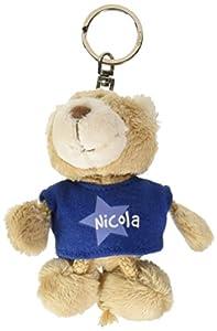 NICI n15892-Llavero Oso con Camiseta Nicolás, Azul