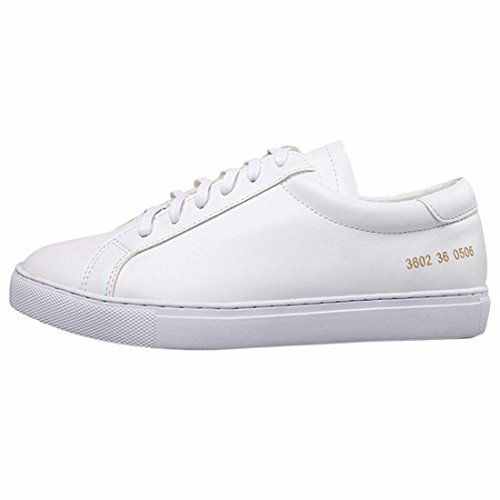 Blanc Chaussures De Sport Talon Plat Des Femmes Chaussures A Bout Rond Lacent Chaussures De Course Blanc