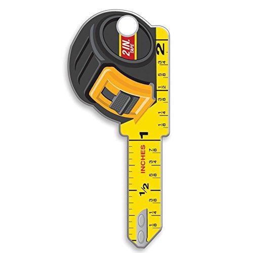 Lucky Line Schlüssel Formen, Amerikanische Flagge, House Schlüsselrohling KW/11, 1Schlüssel (B101K) Messband Kwikset KW/11