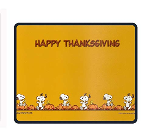 Mouse Pad Peanuts Thanksgiving Customized Rectangle Non-Slip Rubber Mousepad Gaming Mouse Pad -11.8'X9.85'