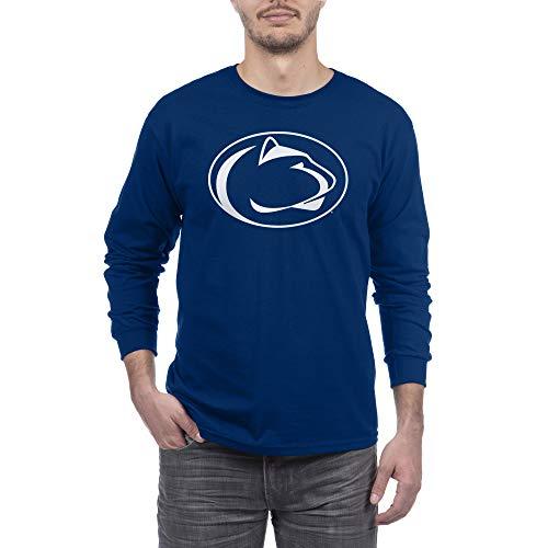 eLITe NCAA Herren Langarmshirt Team Color Icon Touchdown, Herren, Long Sleeve Shirt Team Color Icon Touchdown, Penn State Nittany Lions Navy, Large - Penn Longsleeve