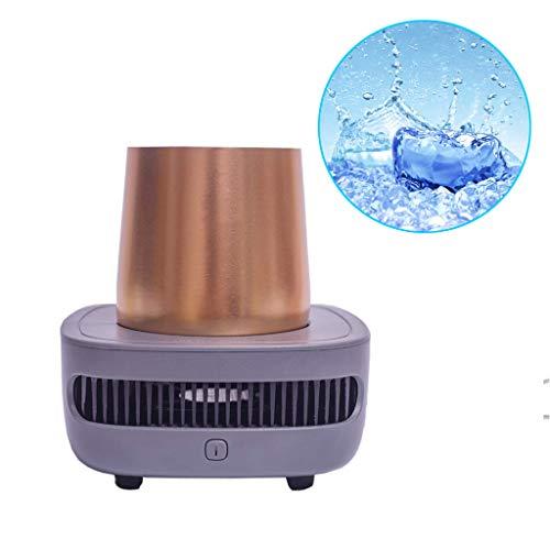 Schnelle Kühltasse Kühl Refrigeration Cooler Cup, Getränk Wein Bier Instant Kühlbecher Kühler Iced Minikühlschrank Tragbarer Kühlschrank Schnellkühlbecher,Brass -