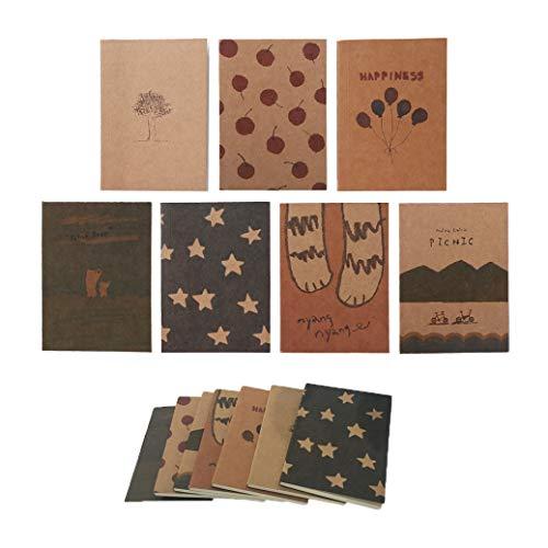 Shulaner Blank Notizbuch Mini Tragbar Tagebuch 40 Tabelle Leere Seiten Kleines Notizbuch Blanko Notizbuch Tagebuch Set von 14 -