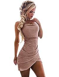 LANSKRLSP Elegante Vestito Dorato Lustrini Cerimonia Vestiti da Cerimonia  Corti Le Donne Sexy Moda Maniche Lunghe b37d6dc2418