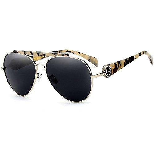 SHEEN KELLY Klassisch Sonnenbrille Pilotenbrille für Damen Bunt Linse Brillen Metall