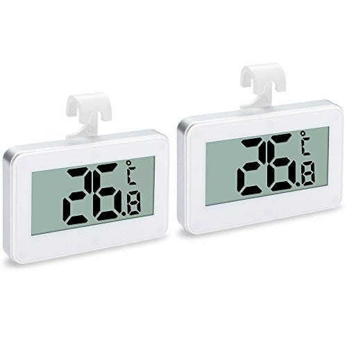 2 Unidades de Termometro Frigorifico, Termometro Nevera,Termómetro Digital Impermeable para Frigorífico y...