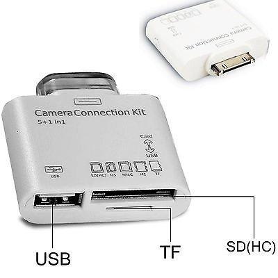 Obsyn Kamera-Anschluss-Kit 5in1 Kartenleser USB SD TF MS MMC für iPad Air Pro Mini 2