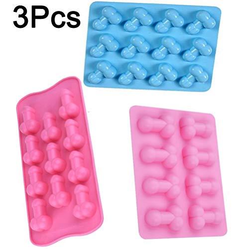 3PCS klein 12in111in1und 8in1Funny Ice Cube Tablett 3D Form Silikon Form 11-cavity Kuchen Schokolade Jelly Backen Form Werkzeug für uns Hen Night Party Supply Set