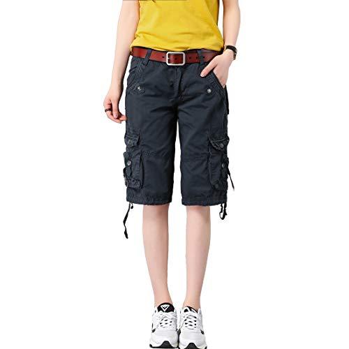 Multi-pocket Hose (Cool&D Damen Shorts Cargo Shorts Bermudas Kurze Hosen Freizeit Sports Shorts mit Multi Pockets)