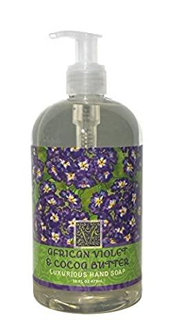 Greenwich Bay African Violet & Cocoa Butter Luxurious Hand Soap Enriched with Shea Butter 16 oz by Greenwich Bay Trading Company