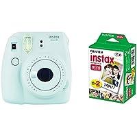 Fujifilm Instax Mini 9 - Cámara instantánea, Cámara con 2x10 películas, Blanco