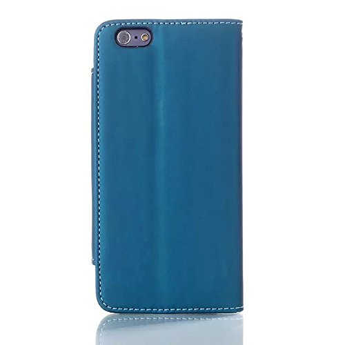 "inShang Hülle für Apple iphone 6 PLUS iPhone 6S Plus 5.5 inch iphone 6+ 6S+ 5.5"" (2014 sEP & 2015 Sep Release), Edles PU Leder Tasche Hülle Skins Etui Schutzhülle Ständer Smart Case Cover für iphone 6 sleek sky blue"