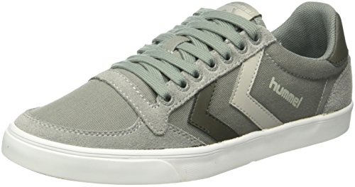 Hummel Slimmer Stadil Duo Canvas Low, Baskets Basses Mixte Adulte Gris (Moon Mist)