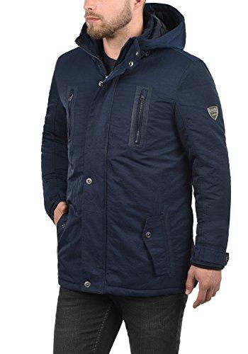 SOLID Daemon Herren Parka lange Winterjacke mit Stehkragen und Kapuze aus hochwertigem  Material Insignia Blue ...