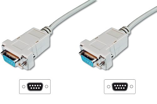 ASSMANN Zero-Modem connection cable, D-Sub9 F/F, 3.0m, snap-hoods