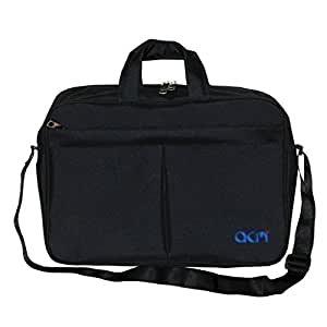 "Acm Executive Office Padded Laptop Bag for Lenovo Ideapad 300 15isk 80q700uein 15.6"" Laptop Black"