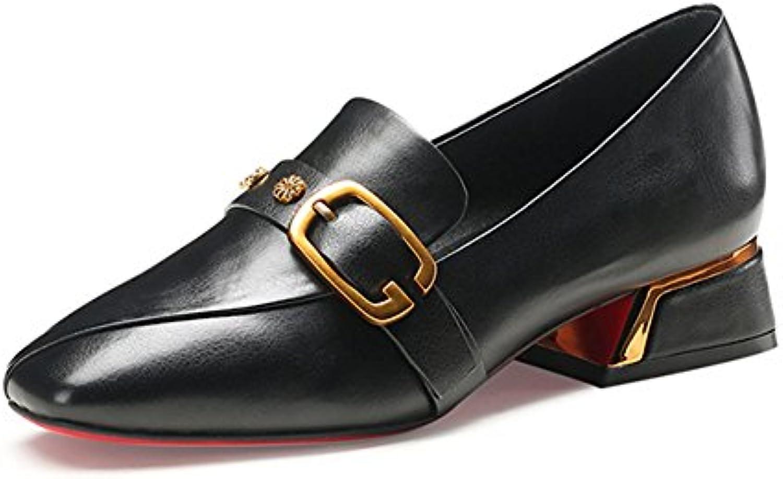 LIANGJUN Talons Bas Chaussures Femmes Escarpins Bottines Bottines Bottines Mode, 2 Couleurs Disponibles, 6 Tailles (Couleur : Noir...B078S8DX39Parent   De Qualité  1d50a3