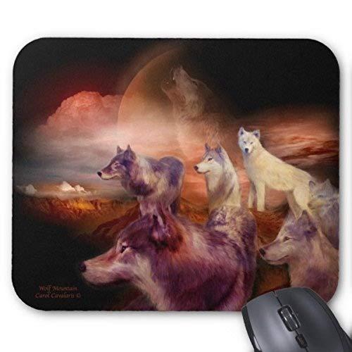 Mauspad Wolf-Gebirgskunst Mousepad