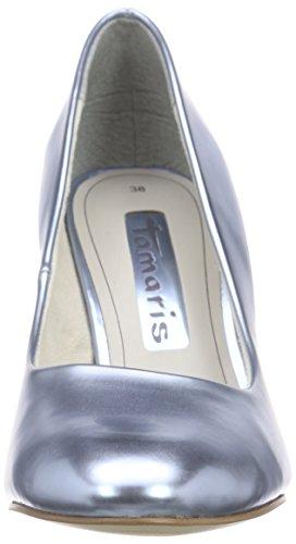 Tamaris22462 - Scarpe con Tacco Donna Blu (Blau (BLEU METALLIC 898))