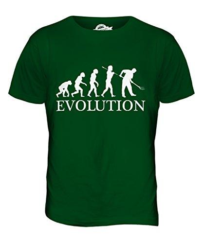CandyMix Gärtner Gartenarbeit Evolution Des Menschen Herren T Shirt Flaschengrün